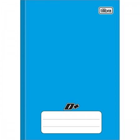 Caderno Brochura Capa Dura 1/4 D+ Azul 48 folhas 140mm x 200mm