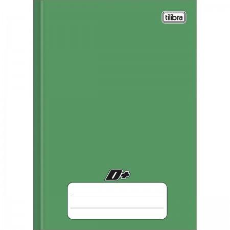 Caderno Brochura Capa Dura 1/4 D+ Verde 96 folhas 140mm x 200mm