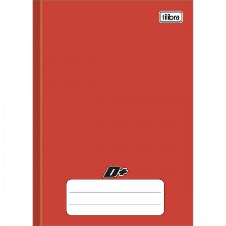 Caderno Brochura Capa Dura 1/4 D+ Vermelho 48 folhas 140mm x 200mm