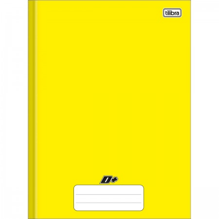 Caderno Brochura Capa Dura Universitário D+ Amarelo 48 folhas 200mm x 275mm