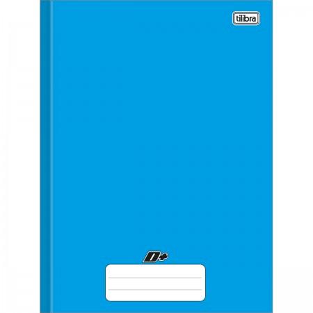 Caderno Brochura Capa Dura Universitário D+ Azul 48 folhas 200mm x 275mm