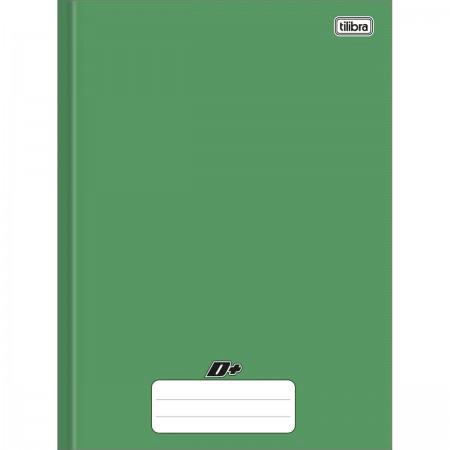 Caderno Brochura Capa Dura Universitário D+ Verde 96 folhas 200mm x 275mm