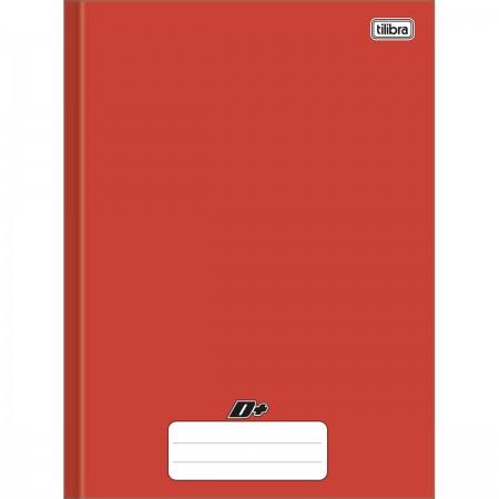Caderno Brochura Capa Dura Universitário D+ Vermelho 48 folhas 200mm x 275mm