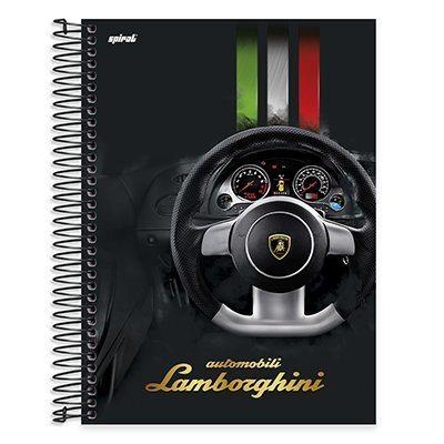 Caderno univ.capa dura 15x1 300fls Lamborghini 20584 Spiral Lb PT 1 UN