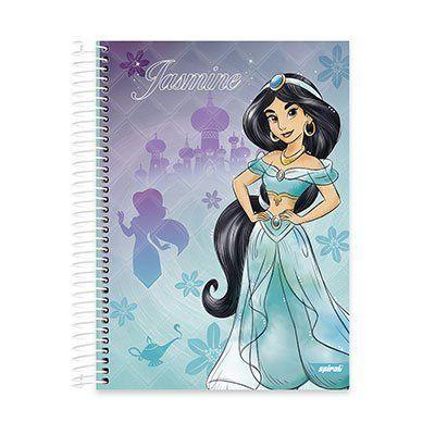 Caderno univ.capa dura 15x1 300fls Princesas 20565 Spiral Pn PT 1 UN