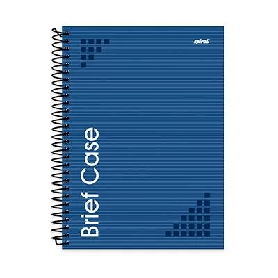Caderno universitário capa dura 1x1 96 fls azul Brief Case 91833 SpiralPT 1 UN