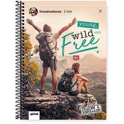 Caderno Universitário Capa Dura 1x1 96 fls Imagem & Mensagem 20291 Spiral Ima  PT 1 UN