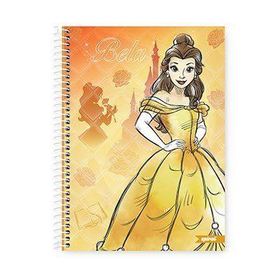 Caderno Universitário Capa Dura 1x1 96 fls Princesas 20260 Spiral Pn  PT 1 UN