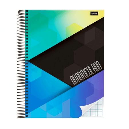 Caderno universitário capa dura 96fls quadriculado 1x1cm Foroni PT 1 UN