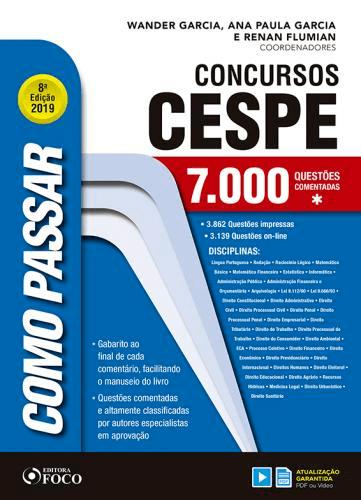 COMO PASSAR EM CONCURSOS CESPE -  7.000 QUESTÕES COMENTADAS