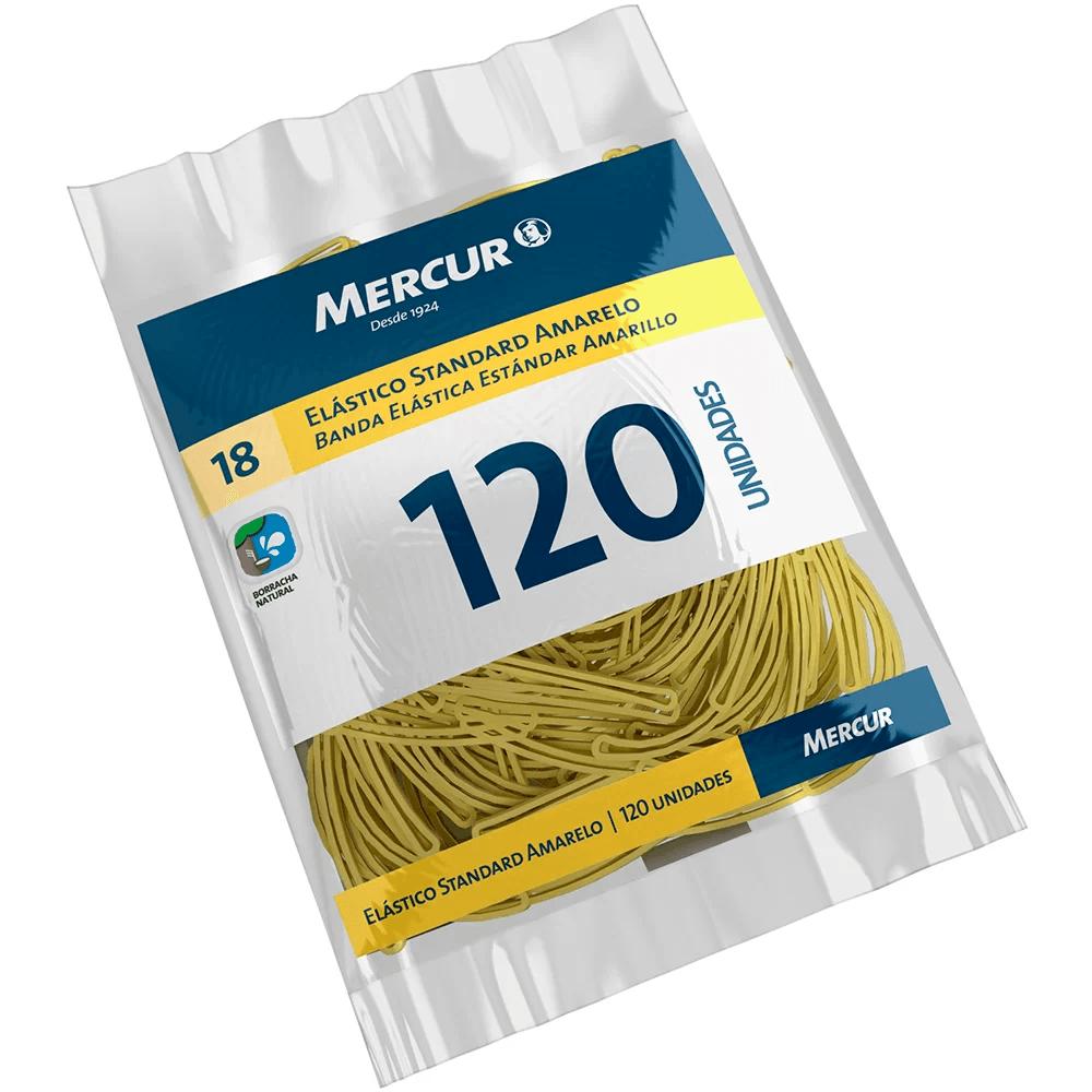 Elástico standard amarelo n.18 c/ 120 unidades B05040318-07 MercurPT 1 UN