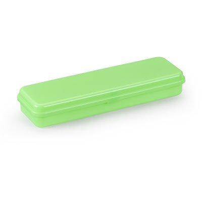 Estojo escolar plástico neon verde 10080015 Waleu PT 1 UN
