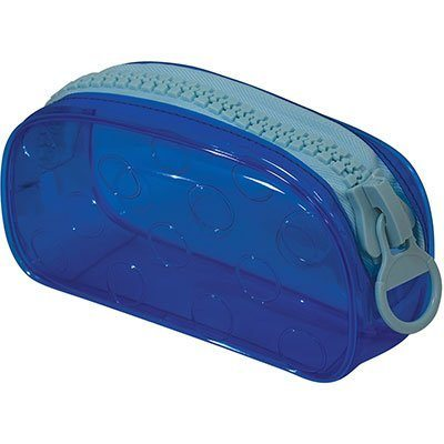 Estojo escolar pvc Bubble azul 191AZ DAC PT 1 UN