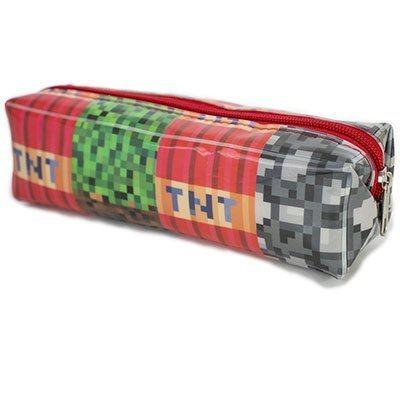 Estojo escolar pvc quadrado Pixel PW10 Obi PT 1 UN