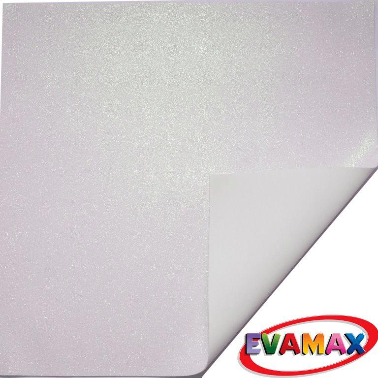 EVA placa com glitter Granel 48 X 40cm - Branco