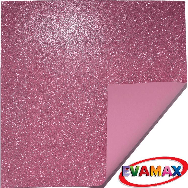 EVA placa com glitter Granel 48 X 40cm - Rosa