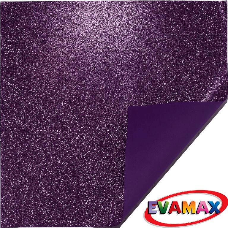 EVA placa com glitter Granel 48 X 40cm - Roxo