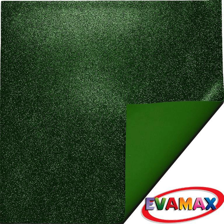 EVA placa com glitter Granel 48 X 40cm - Verde