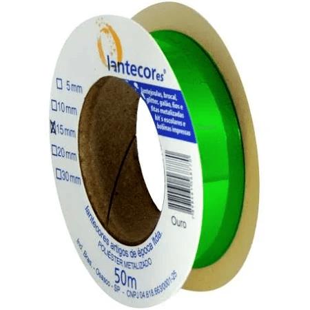 Fita metaloide 15mmx50m Lantecores - Verde