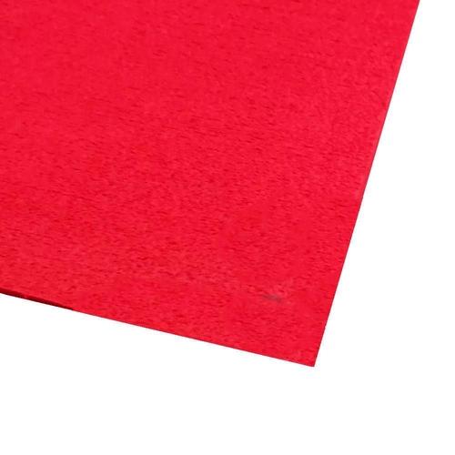 EVA placa atoalhado / Felpudo 48x40 cm - Vermelho