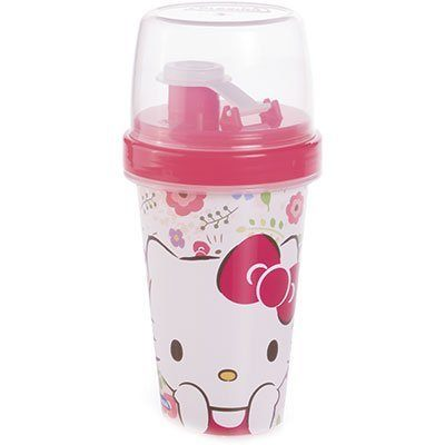 Garrafa escolar shakeira 320ml mini Hello Kitty 8468 Plasutil PT 1 UN