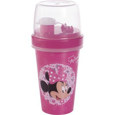 Garrafa escolar shakeira 320ml mini Minnie 6522 Plasutil PT 1 UN