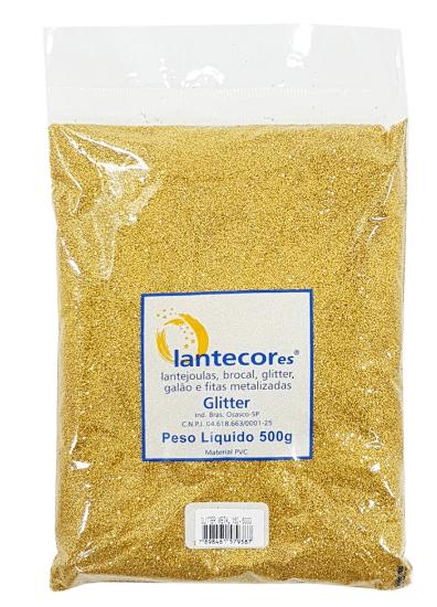 Glitter Ouro PCT 500g - Lantecores