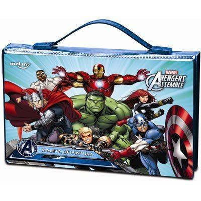 Maleta para colorir Avengers retangular sortido 22235 Molin PT 1 UN