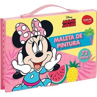 Maleta para colorir Minnie retangular sortido 22335 Molin PT 1 UN