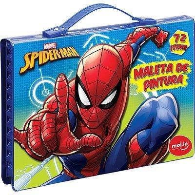 Maleta para colorir Spider-Man retangular sortido 5280 Molin PT 1 KT