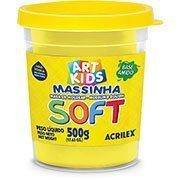 Massa p/modelar 500g soft amarela Acrilex PO 1 UN base de amido