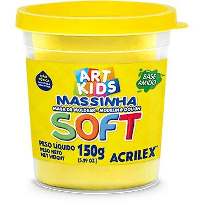 Massa p/modelar 150g soft amarelo 109 Acrilex PO 1 UN