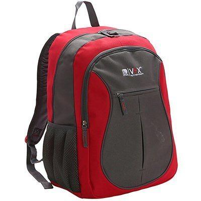 Mochila nylon vermelha c/ marrom 8731716 Republic Vix PT 1 UN