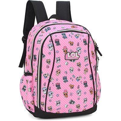 """Mochila poli. 17"""" LOL pink MS45817LOKL 0300 Luxcel PT 1 UN"""