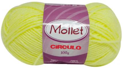 Novelo de Lã Amarelo Mollet