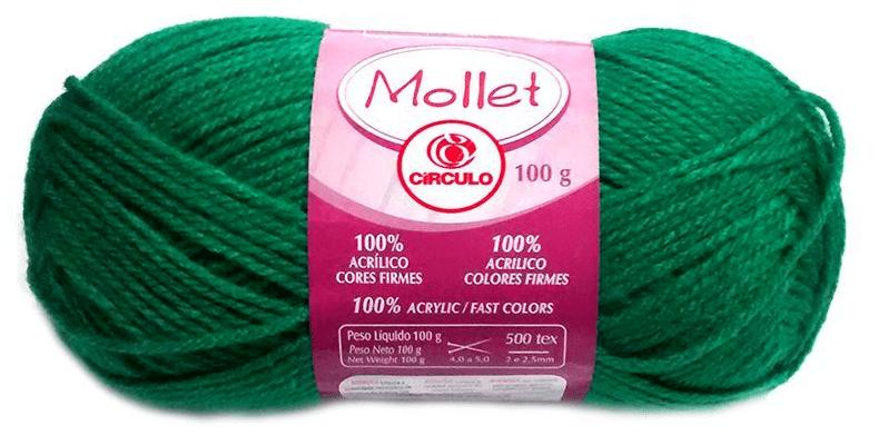 Novelo de Lã verde - Mollet