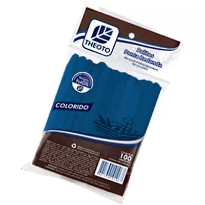 Palito sorvete ponta redonda kv azul 51084 Theoto PT 100 UN
