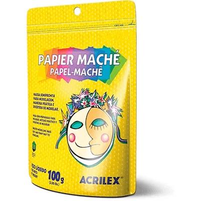 Papel mache 100g Acrilex CT 1 UN