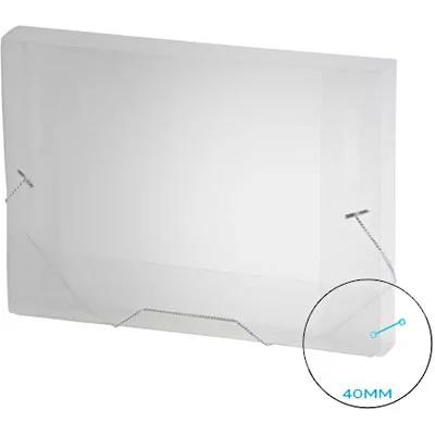 Pasta c/ elástico polipropileno 335x245x40 transparente A40 Plascony PT 1 UN