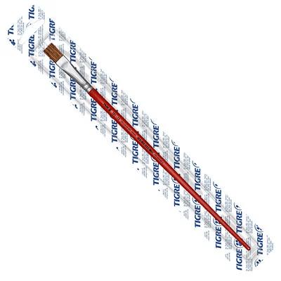 Pincel chato reto n.12 vermelho 181-12 Tigre BT 1 UN