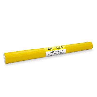 Plástico autoadesivo contact amarelo 45cmx2m PT 1 RL