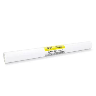 Plástico autoadesivo contact branco 45cmx2m PT 1 RL