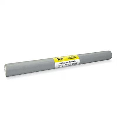Plástico autoadesivo contact prata 45cmx2m PT 1 RL