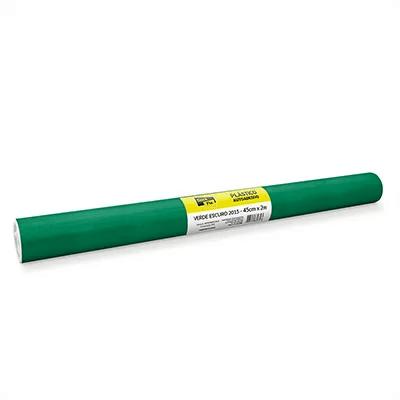 Plástico autoadesivo contact verde 45cmx2m PT 1 RL