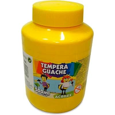 Tinta guache 500 ml amarelo Acrilex PO 1 UN