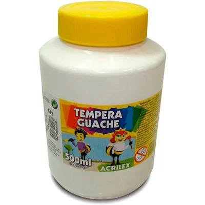 Tinta guache 500 ml branco Acrilex PO 1 UN