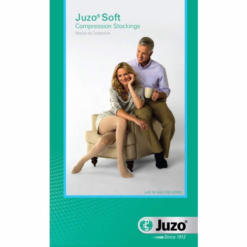 Juzo Soft Knee-High Open Toe W/Silicone Band
