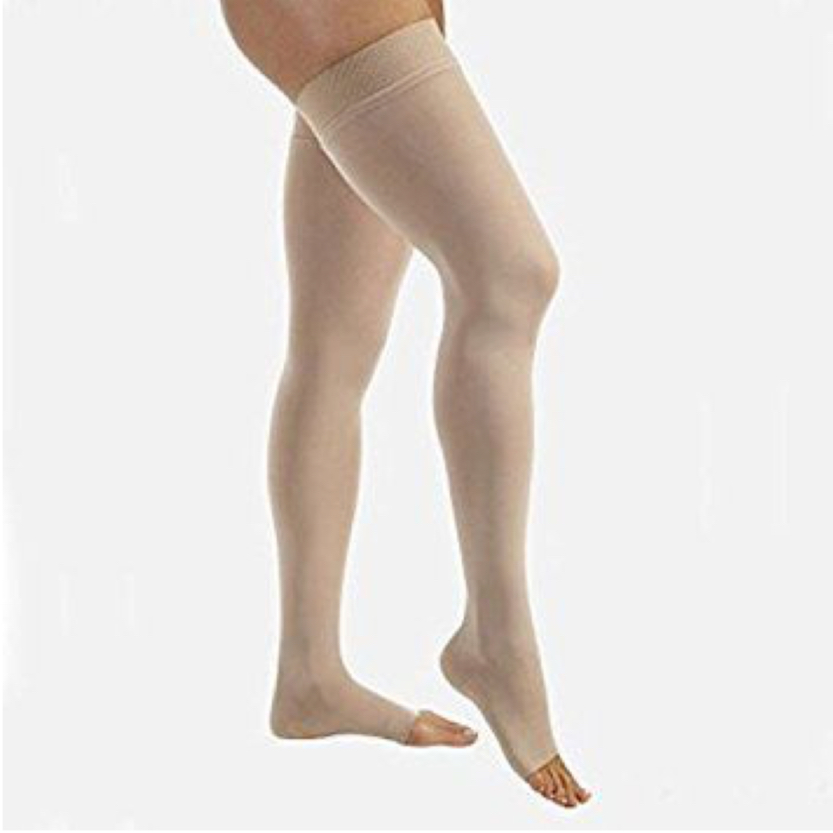 BSN Jobst Relief Thigh-High Open Toe Silicone Petite