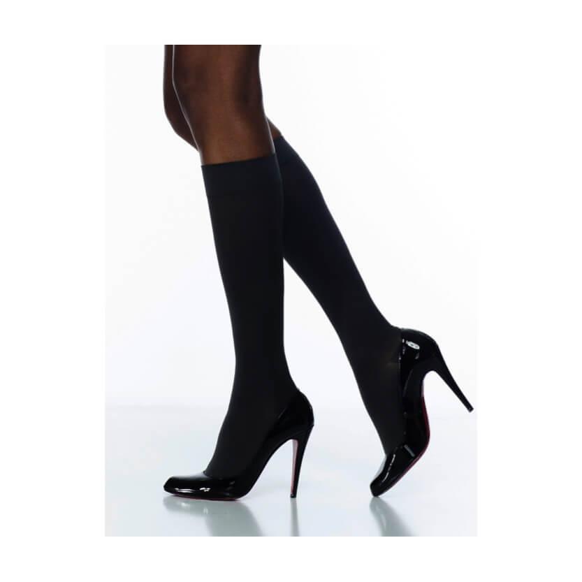 Sigvaris Soft Opaque Closed Toe Calf High Compression Stocking