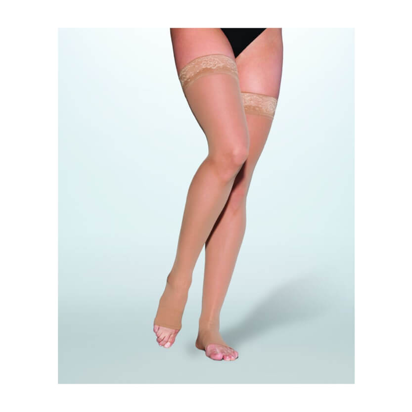 Sigvaris EverSheer Closed Toe Thigh High Compression Stockings